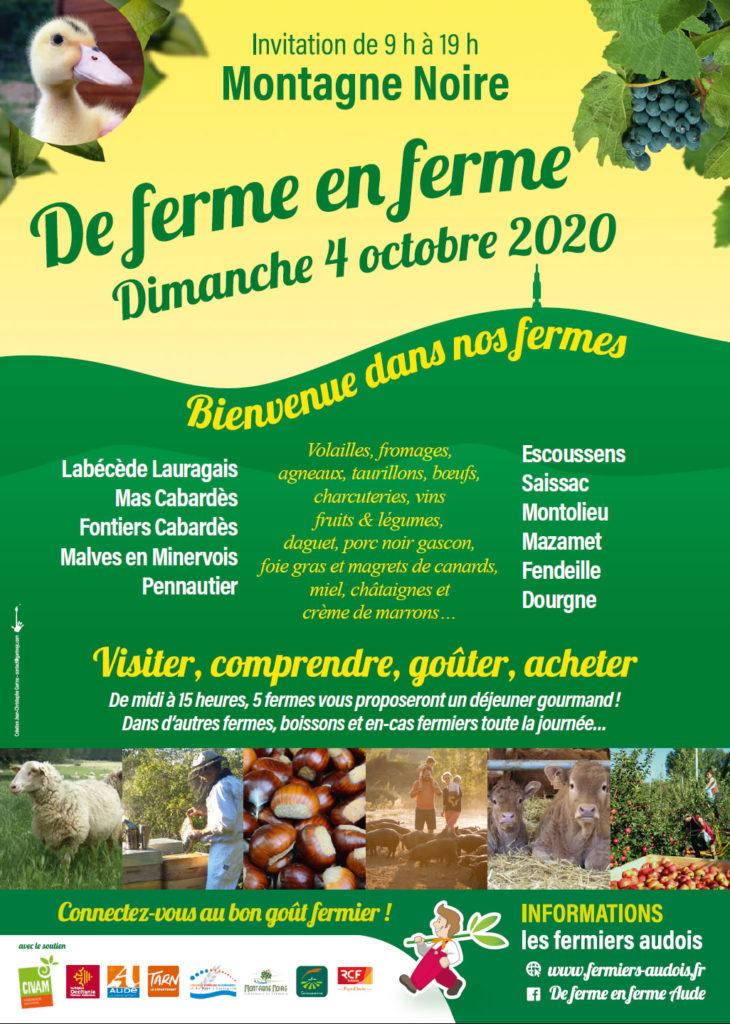 affcihe de ferme en ferme 4 octobre 2020